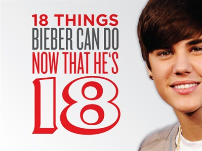 Today March 1, 2012 the king of Twitter turns the legal age of majority, 18.
