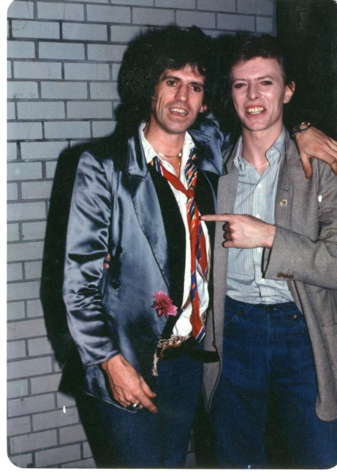 Photo of Keith Richards & his friend  David Bowie
