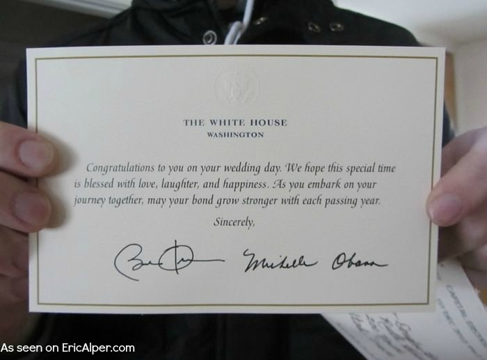 If You Send Your Wedding Invitation To The President