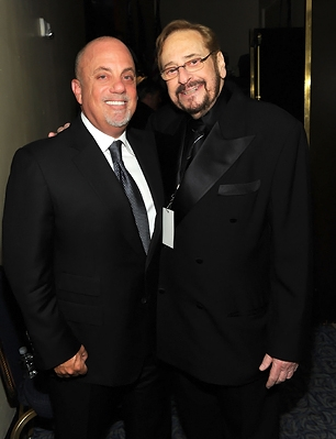 Billy Joel and Phil Ramone attend the 41st Annual Songwriters Hall of Fame Ceremony at The New York Marriott Marquis.