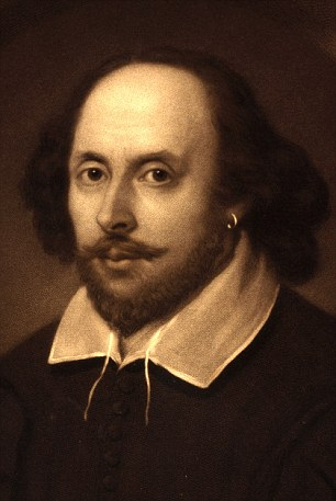 William Shakespeare, English poet and playwright. Portrait of William Shakespeare