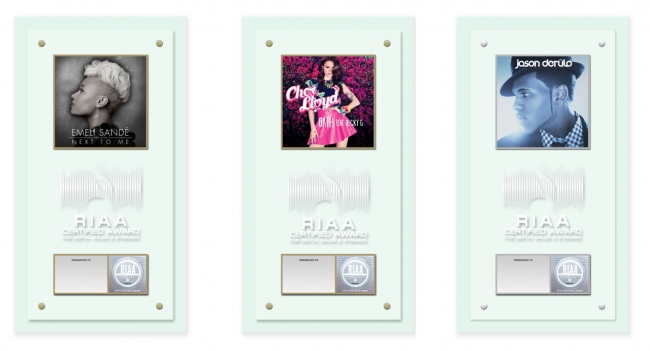 3_inaugural_riaa_combined_digital_single_award_plaques_-_emeli_sande_cher_lloyd_jason_derulo_0