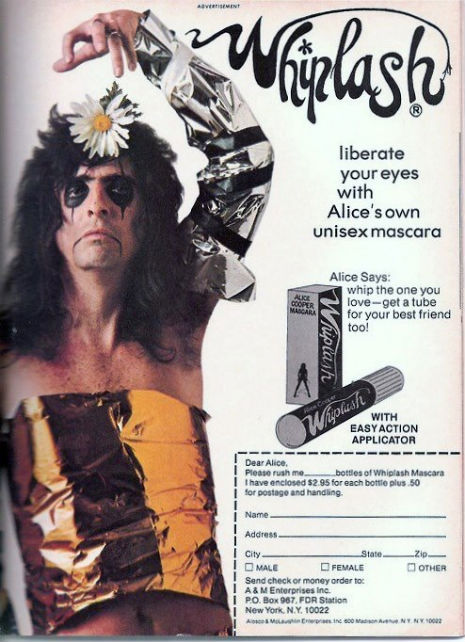 PRETTY FOR YOU ALICE COOPER'S UNISEX WHIPLASH MASCARA, 1973