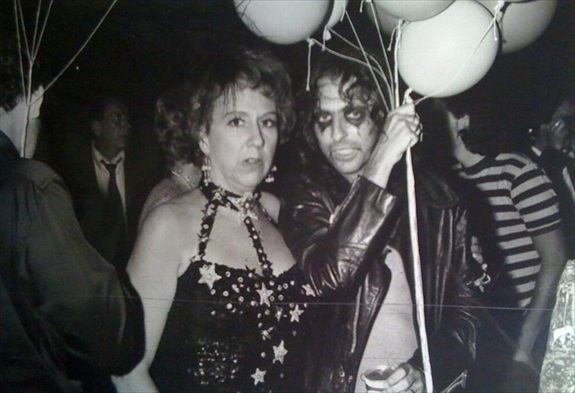 Jean Stapleton and Alice Cooper