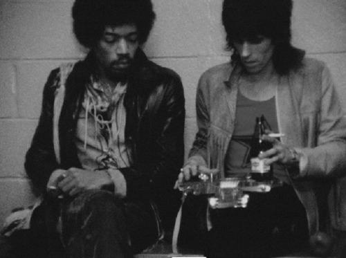 Keith Richards and Jimi