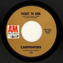 CarpentersTicket45rpm