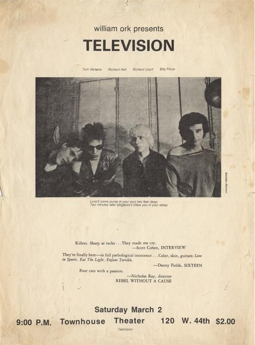 Television's first show March 2, 1974.