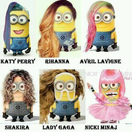 The Minions as your fave pop stars: Katy Perry, Rihanna, Avril Lavigne