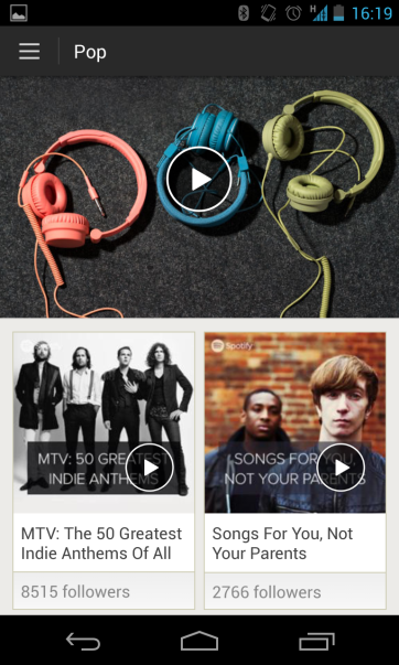 Spotify's Browse on Android (Credit: Spotify)