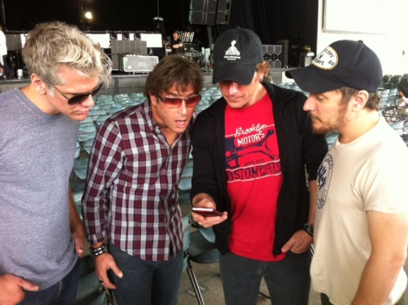 Matchbox Twenty band members, from left, Kyle Cook, Brian Yale, Rob Thomas and Paul Doucette. Credit: Justin Segura.