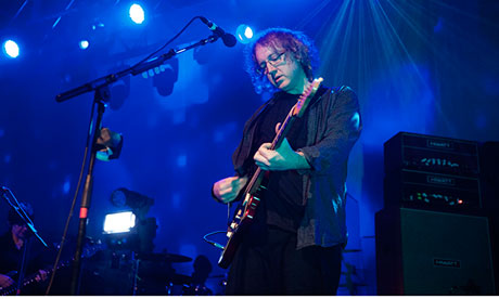 Kevin Shields on stage with My Bloody Valentine in Glasgow in March this year.