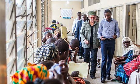 Bono in Ghana: 'I just thought: I'll do what I can. And I will talk to anybody.' Photograph: Jonx Pillemer/ (RED)
