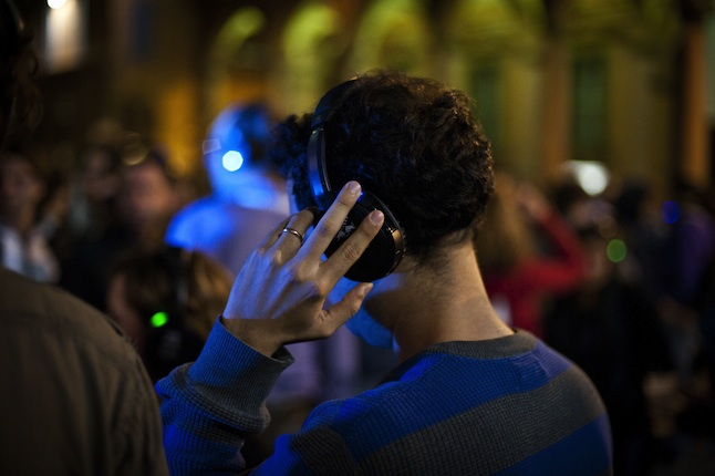 First Silent Disco in Bologna