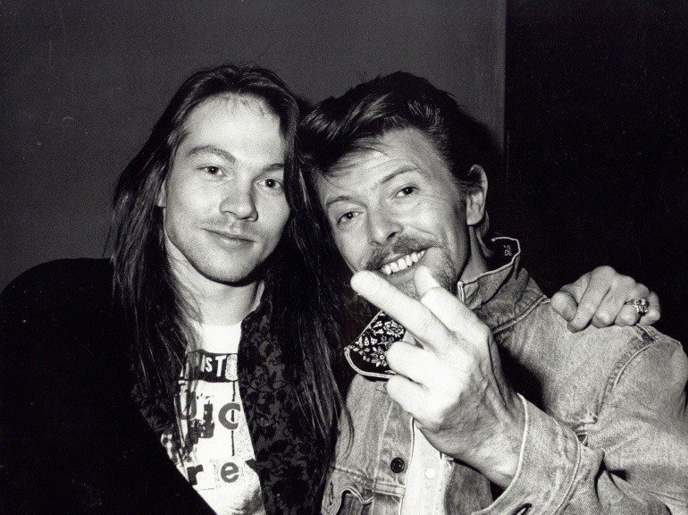 Axl Rose and David Bowie