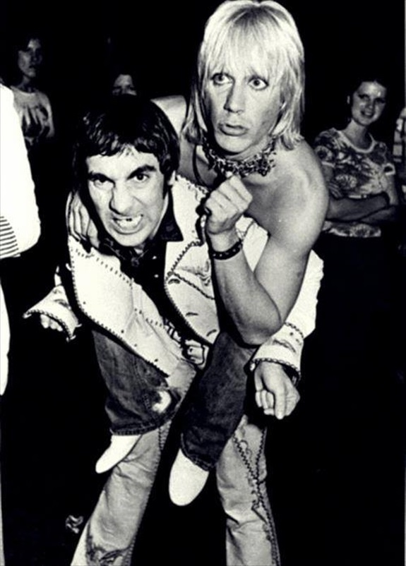 Keith Moon and Iggy Pop