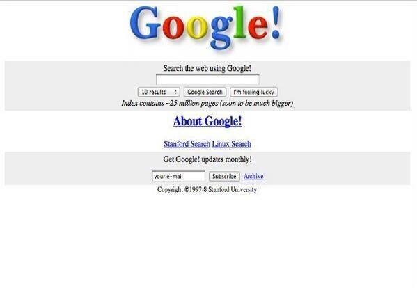 This is what Google looked like 15 years ago