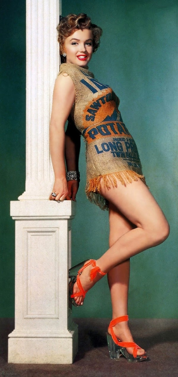 Marilyn and the Potato Sack Dress, c (1)