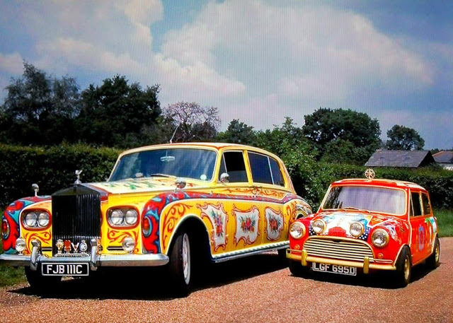 John Lennon's Rolls Royce and George Harrison's Mini Cooper (1967)