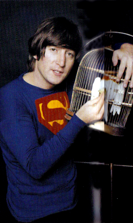 John Lennon Wearing a Superman Shirt, 1965 (2)