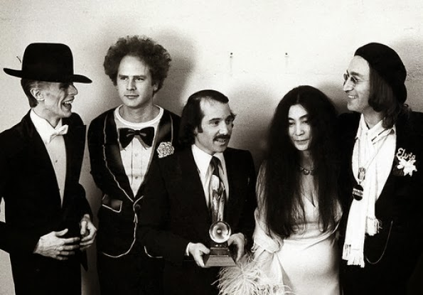 John Lennon and Yoko Ono attend the 1975 Grammy's (3)