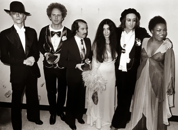 John Lennon and Yoko Ono attend the 1975 Grammy's (4)