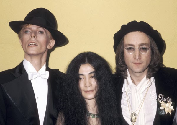 John Lennon and Yoko Ono attend the 1975 Grammy's (5)