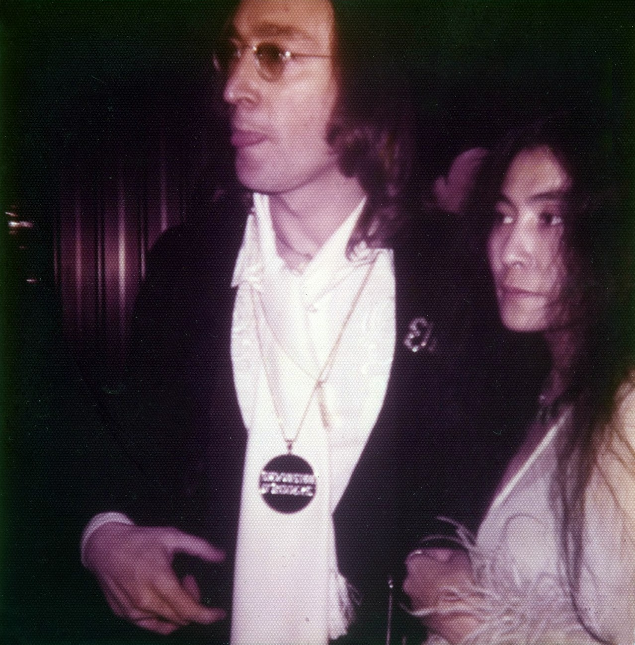 John Lennon and Yoko Ono attend the 1975 Grammy's (8)
