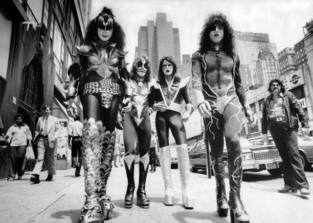 KISS Walking on the Street of New York City, June 24th, 1976