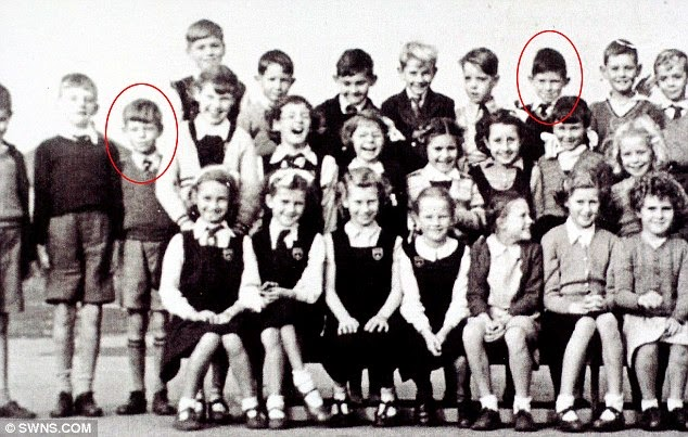 Mick Jagger and Keith Richards at Primary School Together, 1951 (1)