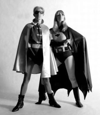 Nico and Andy Warhol as Batman and Robin for Esquire, 1967 (2)