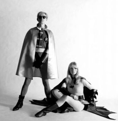 Nico and Andy Warhol as Batman and Robin for Esquire, 1967 (3)