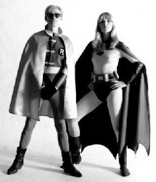 Nico and Andy Warhol as Batman and Robin for Esquire, 1967 (4)
