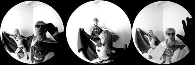 Nico and Andy Warhol as Batman and Robin for Esquire, 1967 (5)