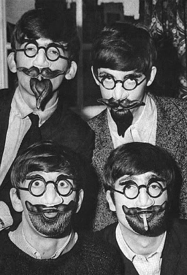 The Beatles' funny faces, c. 1960s