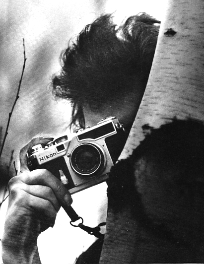 Bob Dylan with a Nikon SP Rangefinder