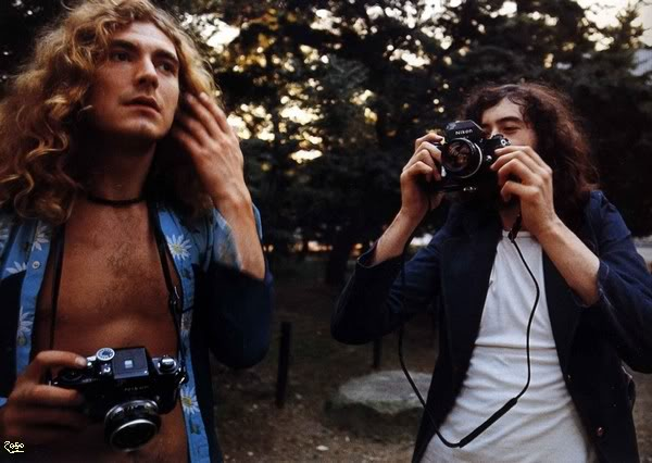 Robert Plant and Jimmy Page with Nikon F2s