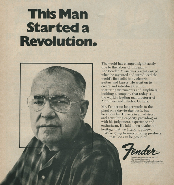 The Company That Invented T: Born On This Day In 1909, 'Leo' Fender, Inventor And