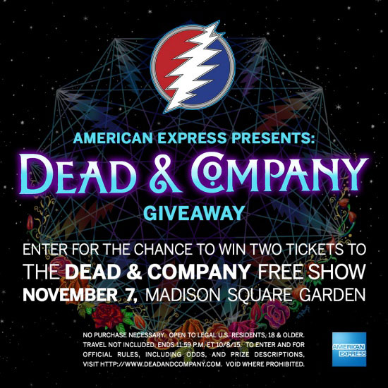 """ccc296a360a5 American Express announced today that Dead   Company has been chosen as the  next artists in its popular live stream music series """"American Express  Unstaged ..."""