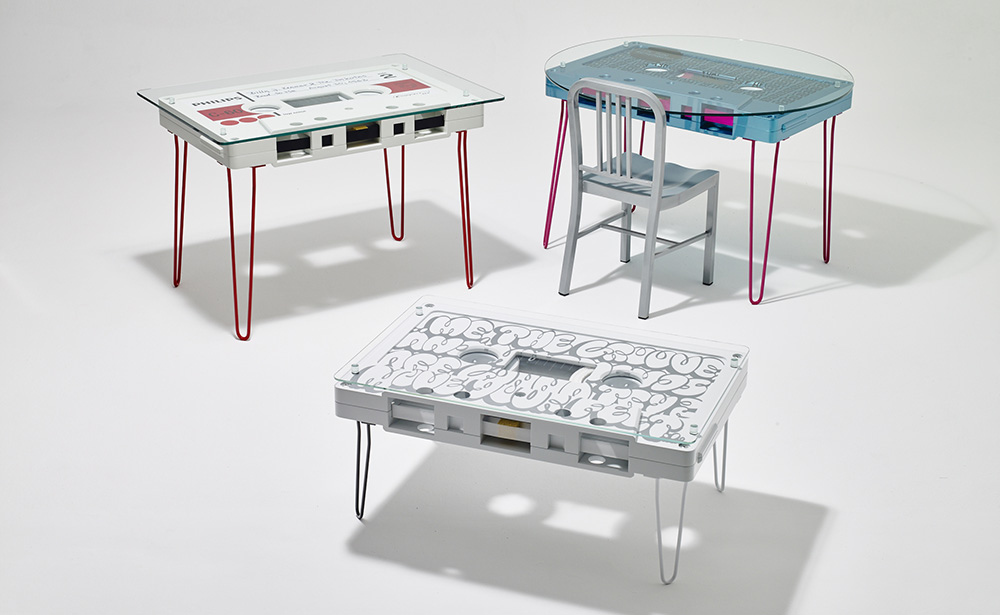 A Mix Tape Pfft How About A Cassette Tape Coffee Table That - Cassette coffee table