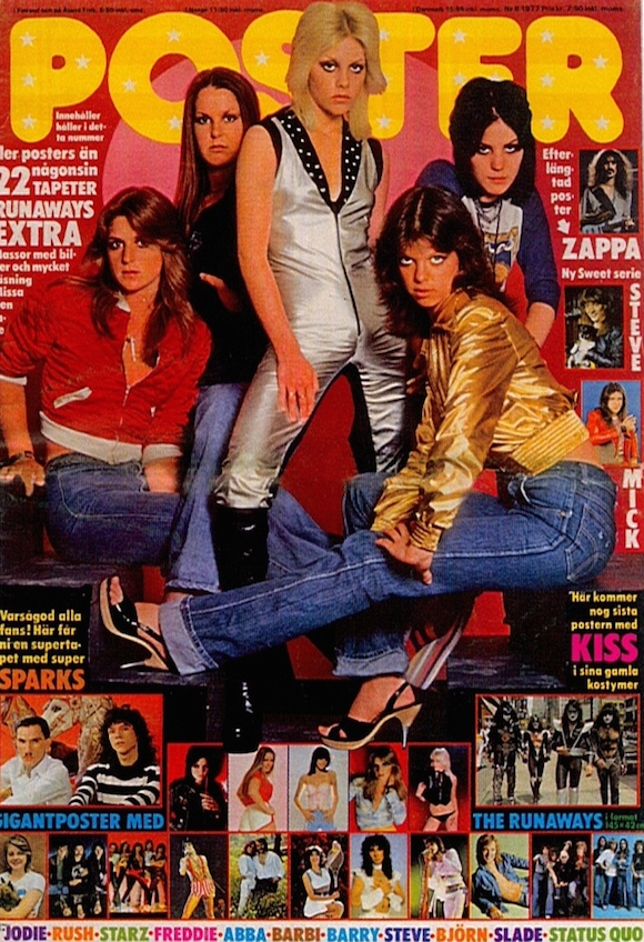 The Runaways on the cover of Poster No 8, 1977 - That Eric Alper