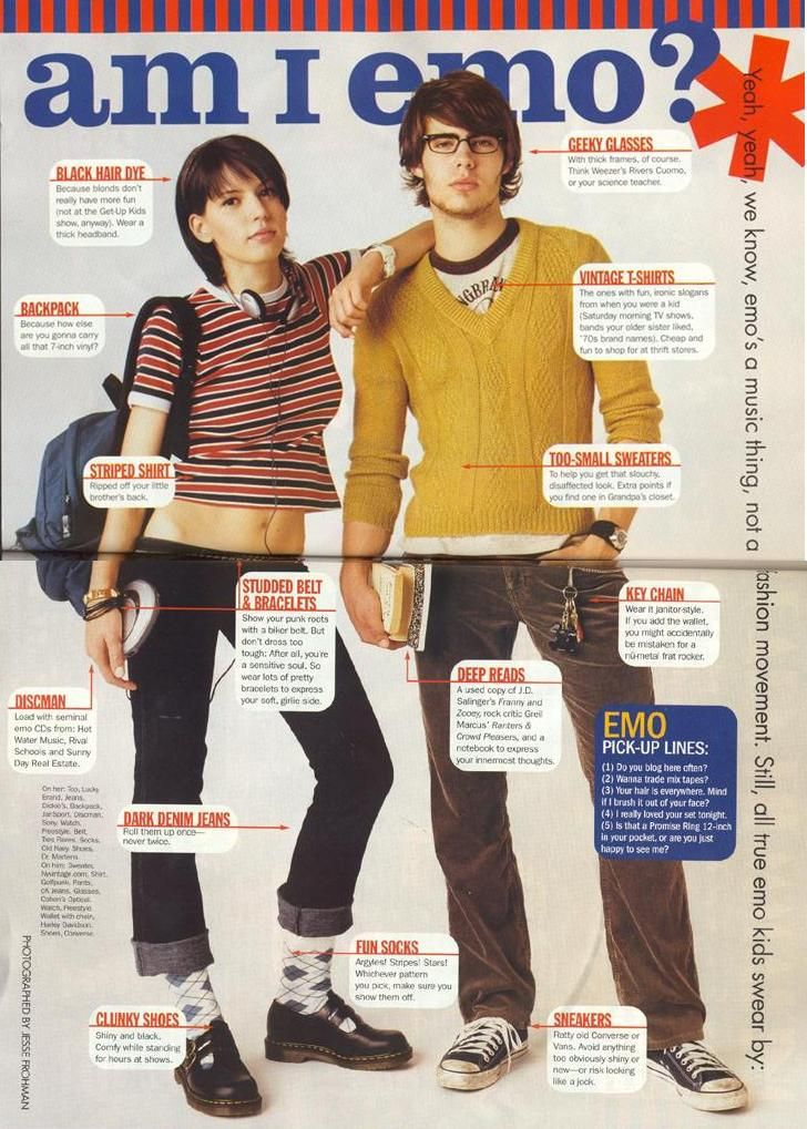 Am I Emo In 2002 Seventeen Magazine Helped You Answer That Question That Eric Alper