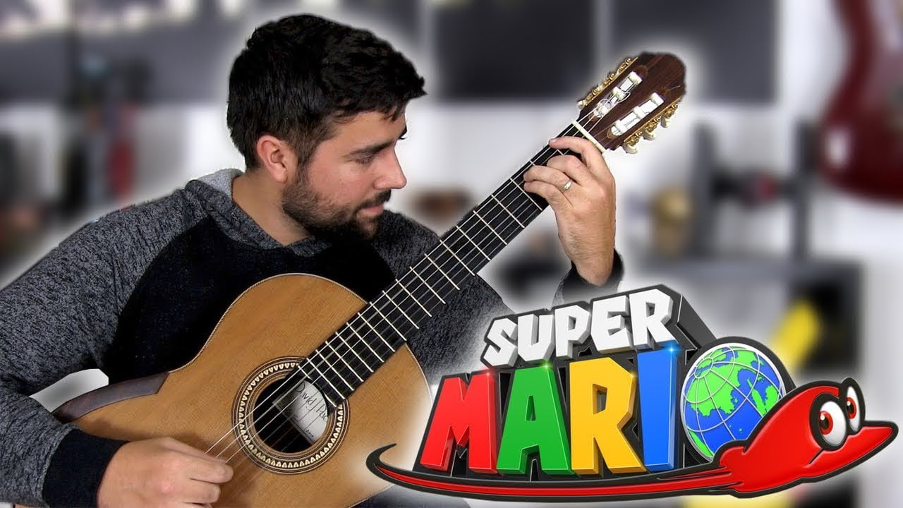 how to play the mario theme song on guitar