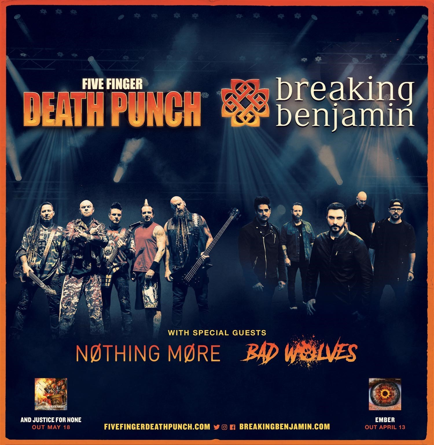 five finger death punch and breaking benjamin announce 32 date summer co headline tour that. Black Bedroom Furniture Sets. Home Design Ideas
