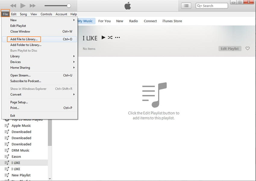 how to put music on iphone from computer using itunes