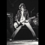 Johnny Ramone of The Ramones performs on stage at The Wintergarden in Dallas, Texas in 1979.