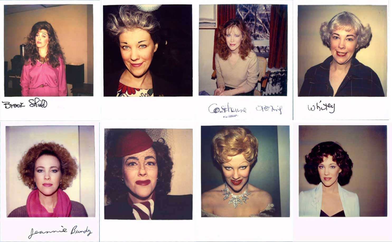 Catherine O'Hara's wardrobe polaroids from the Canadian sketch comedy Second City Television.