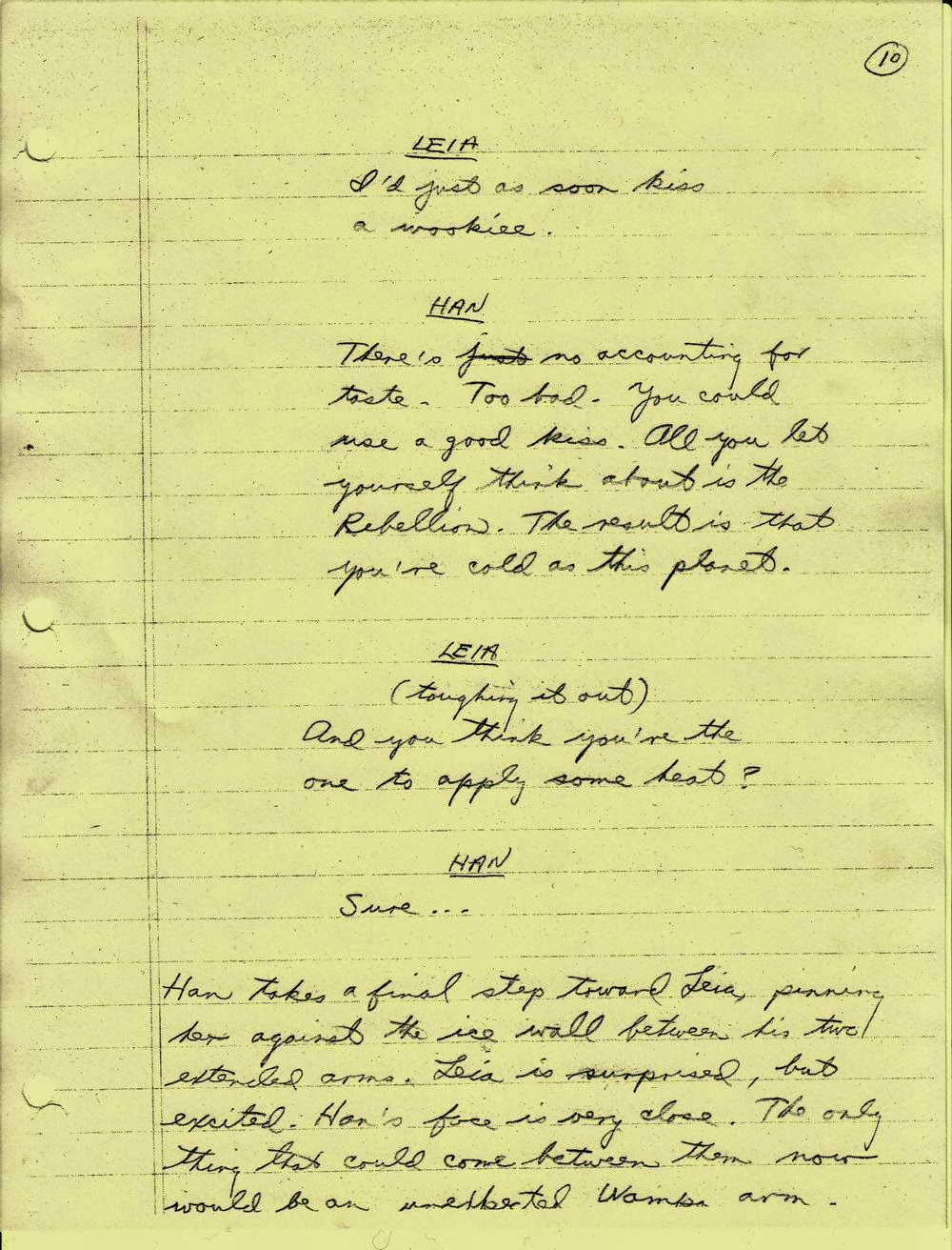 Lawrence Kasdan's Handwritten Screenplay for The Empire Strikes Back (4)