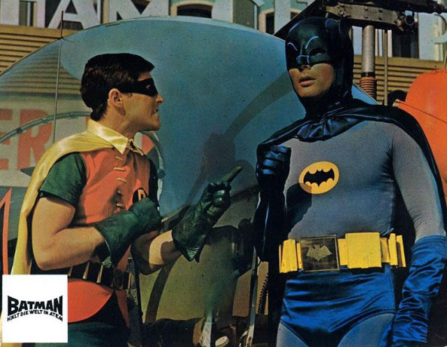 Adam West and Burt Ward in Batman, 1966 (2)
