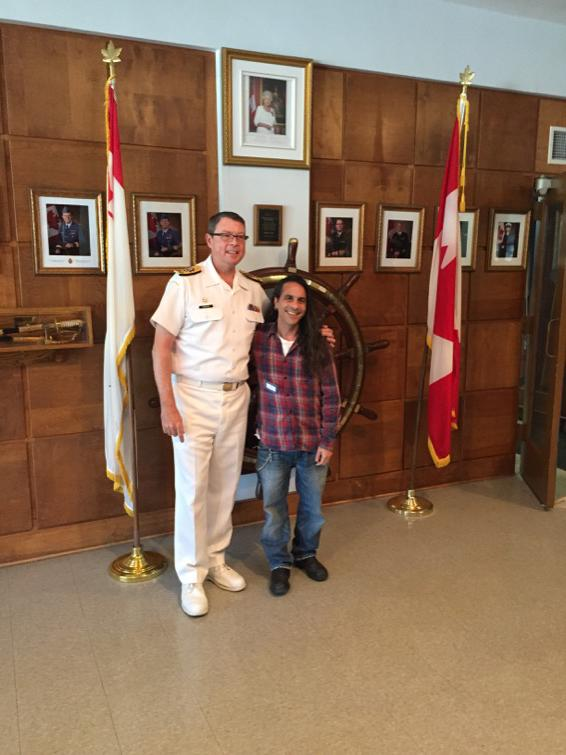 Vice-Admiral Mark Norman, Commander of the Royal Canadian Navy  and I. I'm the one on the right.