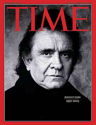 Johnny Cash Time Magazine Cover, 2003